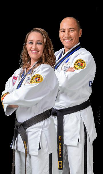 Master Daniel Madriaga and Mrs. Lorena Ausa Black Belt Attitude School